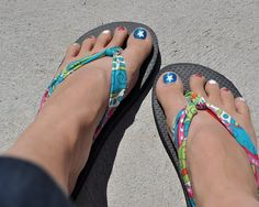 Replace the uncomfortable plastic strips on flip flops with soft fabric. Why didn't I think of this?
