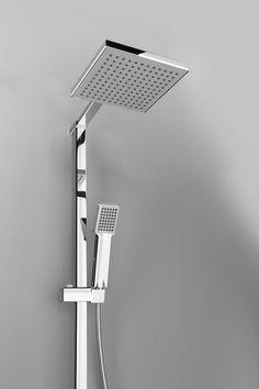 Sprchový sloup k napojení na baterii, pevná a ruční sprcha, hranatý, chrom : SAPHO E-shop Program, Lighting, House, Home Decor, Decoration Home, Home, Room Decor, Lights, Home Interior Design