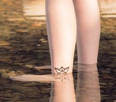 The Paper Boat - Tattoonie #t4aw #tattooforaweek #temporarytattoo #faketattoo #tattoonie #paper #boat #tattoo