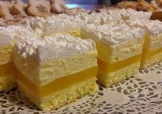 Narancsos-vanília krémes szelet | Margaréta 🌼 receptje - Cookpad receptek Hungarian Desserts, Romanian Desserts, Sweet Desserts, Dessert Recipes, Cake Bars, Miniature Food, Winter Food, Cake Cookies, Food To Make