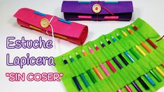 Diy crafts: roll up pencil case (back to school) – innova crafts Roll Up Pencil Case, Diy Pencil Case, Pencil Boxes, Pencil Pouch, Diy Craft Projects, Diy Crafts For Kids, Sewing Projects, Sewing Ideas, Duck Tape Crafts
