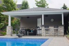 1000 ideas about pool shed on pinterest pool houses for Pool shed with bar plans