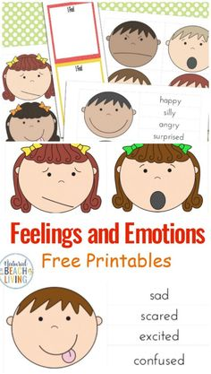 These are wonderful Books and Activities on Managing feelings and Emotions, Feelings Game Printable and Feelings Book Printable, best Preschool Emotions Printables, These are perfect preschool printab Feelings Preschool, Autism Preschool, Preschool Social Studies, All About Me Preschool, Preschool Learning Activities, Free Preschool, Preschool Printables, Montessori Education, Emotions Game