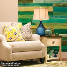 Coloring outside the lines is totally encouraged! Flaunt your creative side with a reclaimed barn wood accent wall.