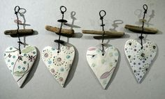 Coeur - Hobbies paining body for kids and adult Crafts To Sell, Diy And Crafts, Arts And Crafts, Wire Crafts, Clay Crafts, Polymer Clay Kunst, Bee Creative, Advanced Ceramics, Fabric Journals