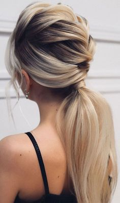 Pony Hairstyles, Braided Ponytail Hairstyles, Wedding Hairstyles, Easy Pretty Hairstyles, Ponytail Wedding Hair, Braid Ponytail, Layered Hairstyles, School Hairstyles, Retro Hairstyles