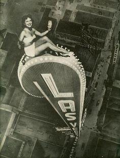 pin up image from Las Vegas Magazine, 15 July (Cahlan Manuscript Collection) Old Photos, Vintage Photos, Old Pictures, Strange Pictures, Vintage Postcards, Circo Vintage, Pin Up, Cities, Las Vegas Nevada