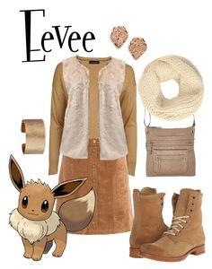 """Eevee"" by teenageprincessgirl ❤ liked on Polyvore featuring Topshop, Sans Souci, Frye, Bueno, John Lewis, Panacea, Kendra Scott, Pokemon, eevee and furvest"