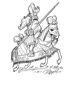 Knights Legend Coloring Picture For Kids