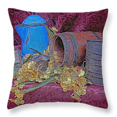 Throw Pillows - Country Kitchen Throw Pillow by Pamela Walton