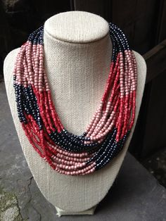 """Color Block 36"""" Necklace by OriginBrooklyn - Use coupon code """"pinterest"""" to get 15% off towards all the jewelry at OriginBrooklyn."""