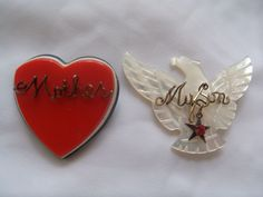 WWII Mother Of Soldier Brooches