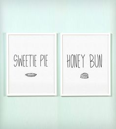 Sweetie Pie and Honey Bun Print Set
