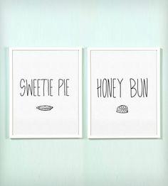 Sweetie Pie and Honey Bun Print Set