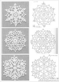 PP said: Note to self- crochet these with huge hook, would look great really big. I say: Why the hell not?lots of motif patternsLove this, you could change the back ground to your liking! except its crochet Crochet Snowflake Pattern, Crochet Stars, Crochet Snowflakes, Crochet Doily Patterns, Crochet Diagram, Thread Crochet, Crochet Designs, Crochet Doilies, Crochet Flowers