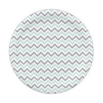 Green Chevron Baby Shower Paper Plate  sc 1 st  Pinterest : black and white chevron paper plates - pezcame.com