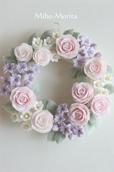 wreath of soap carving