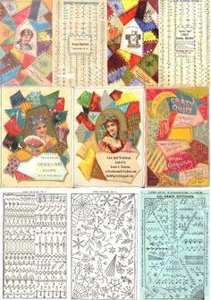 """100 Crazy Patchwork Stitches"" - A 1884  trade card and stitch guide."