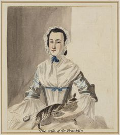 Paul Sandby (1731-1809) - The wife of Dr Franklin