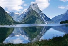 Milford sound and the Mitre peak country : New Zealand