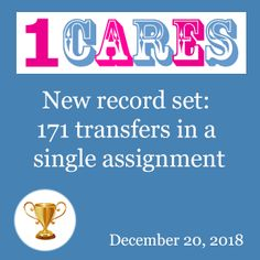 1CARES.com set a new record in bus rental with driver - 171 transfers in a single assignment!