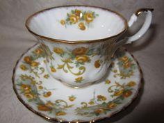"Royal Albert tea cup & saucer. ""Marjorie"" design."