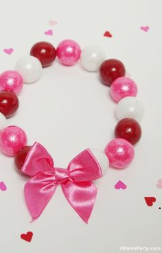 Last Minute Valentine's Day Gift or Favor Idea: DIY Gumball Necklaces by Bird's Party