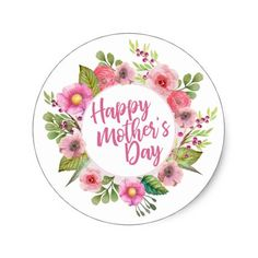 Shop Elegant Happy Mother's Day Floral Frame Sticker created by ofbeautyandwonder. Personalize it with photos & text or purchase as is! Mothers Day Decor, Mothers Day Cake, Mothers Day Crafts For Kids, Mothers Day Quotes, Happy Mothers Day, Diy Mother's Day Crafts, Mother's Day Diy, Crafts To Make, Kids Crafts