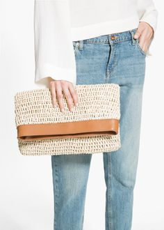Raffia handbag | MANGO