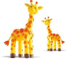 Green4Kids - Nachhaltiges Spielzeug im Onlineshop | Playmais ONE Giraffe | Sicheres Spielzeug für Baby und Kinder