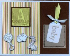 Adorable Baby by Stampin' Ink - Cards and Paper Crafts at Splitcoaststampers Vellum Paper, Blue Gingham, Baby Cards, Grosgrain Ribbon, Paper Design, Baby Photos, Your Cards, Cute Babies