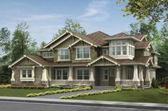 Craftsman Exterior - Front Elevation Plan #132-495