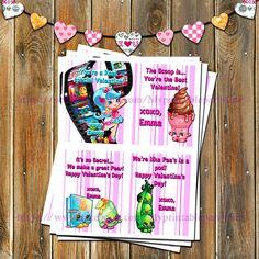 Shopkins Valentines Cards-You by MyPrintablePartyLine on Etsy