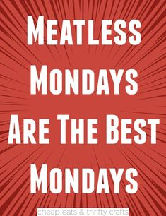 A Month of Meatless Monday Recipes