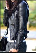 2015 новинка осень зима женщины марка искусственного мягкой кожи куртки пу черный пиджак молнии пальто мотоцикл верхняя одежда и заклепки(China (Mainland))