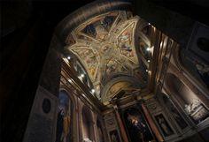 Church lighting project by Claudia Giacomobello | Cappella di S.Monica @ Basilica di S.Agostino, Campo Marzio, Roma #ledlab #lightingdesigners #lighting #CreativeGallery #rome