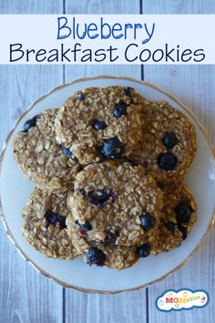 Blueberry breakfast cookies? what a yummy portable breakfast idea!
