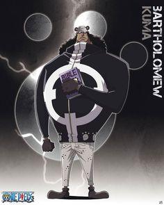Poster affiche One Piece Grand Corsaire Shichibukai Bartholomew Kuma 40 x 50 cm