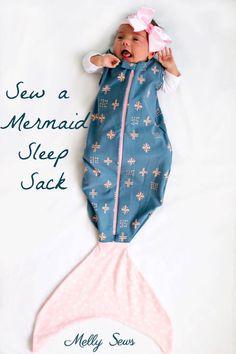 Tutorial and pattern: Mermaid baby sleep sack – Sewing