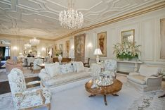 A genuine  Syrie Maugham room - one of her finest. What Jay Gatsby's living room really would have looked like.