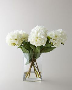JohnRichard Collection John Richard Collection Heavenly Peonies Faux Floral Arrangement is part of Faux Floral arrangement - Bouquet of faux white peonies Handcrafted polysilk floral stems Glass container Acrylic water 23 W x 13 D x 18 T Imported Artificial Floral Arrangements, Artificial Silk Flowers, Silk Flower Arrangements, Fake Flowers, Artificial Bouquets, Fabric Flowers, White Flowers, Vase Arrangements, Flowers Garden