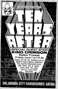 7.6.1974; ten years after - king crimson - robin trower; usa, oklahoma city, fairgrounds arena; (db)