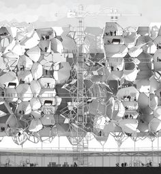Renjie Huang, an architecture student at the Royal College of Art in London Conceptual study for generative, voronoi-shaped recycled-plastic 3D printed housing.