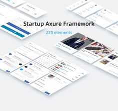 Startup Axure Framework-220 elements-DOWNLOAD