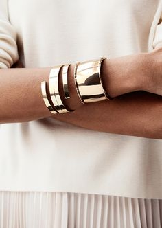 Gold Bracelets/ minimalist accessories
