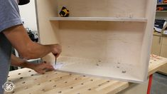 How to Build DIY Wall Cabinets with 5 storage options. Customize these shop cabinets to organize your garage or workshop. Video tutorial and plans! Paint Storage, Shop Storage, Built In Storage, Storage Ideas, Diy Garage Storage Cabinets, Diy Cabinets, Garage Organization, Wooden Toy Boxes, Cabinet Plans