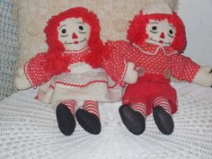 Vintage Pair of Raggedy Ann and Andy Set by Daysgonebytreasures, $28.00