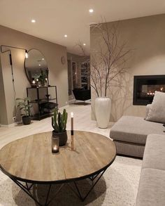 Nordic Living Room, Classy Living Room, Living Room Decor Cozy, Home Living Room, Bedroom Decor, Home Room Design, Home Interior Design, Living Room Designs, House Design