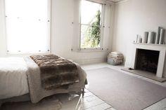 Layered bedcovers #bedroom