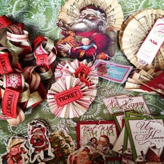 #handmade #christmas #ornaments #craft #diy #collage #paper